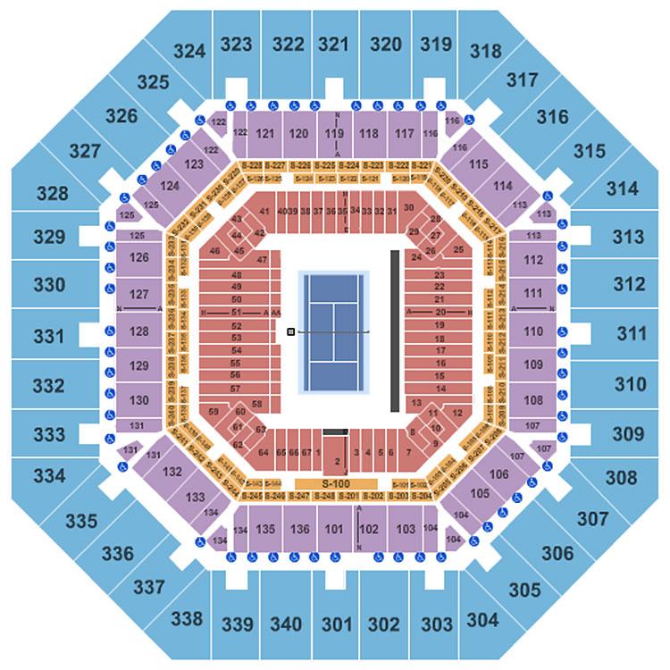 Us Open Seat Map Arthur Ashe Stadium Seating Chart | Arthur Ashe Stadium | Flushing